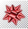 bow ribbon red christmas vector image vector image