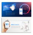 broadband internet horizontal banners vector image vector image