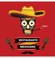 Cafe cover for menu mexican template design vector image vector image