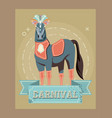 carnival horse circus show decoration retro vector image vector image