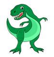 cheerful green dinosaur tyrannosaurus vector image