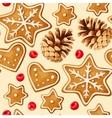 Christmas ginger seamless vector image vector image