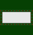 christmas rectangle banner with xmas snowflakes vector image