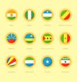 circular flags of niger nigeria puntland vector image