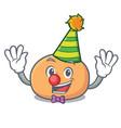 clown mochi mascot cartoon style vector image vector image