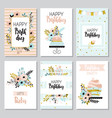 collection of funny greeting cards vector image