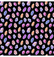 Colorful crystals minerals rocks seamless pattern vector image