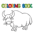Coloring book of funny wild yak vector image vector image