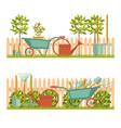 concept of gardening garden tools vector image