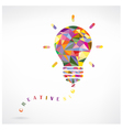 Creative light bulb Idea concept vector image vector image