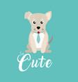 cute dog with tie cartoon vector image