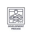 development process line icon concept development vector image vector image
