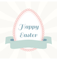 Easter egg from paper with ribbon vector image