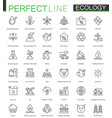 ecology thin line web icons set outline stroke vector image