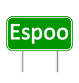 Espoo road sign vector image vector image