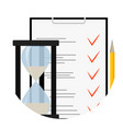 exam test questionnaire icon vector image