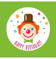 flat holiday background Clown vector image