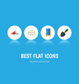 flat icon farm set of trowel hacksaw container vector image