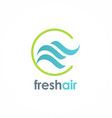 fresh air wave logo vector image