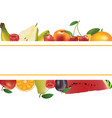fruits background banner vector image vector image