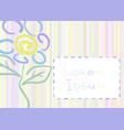 greeting card with flower vector image
