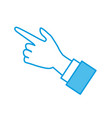 hand pointing with finger vector image vector image