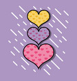 hearts symbol of love and passion design vector image vector image