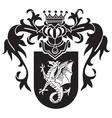 heraldic silhouette No43 vector image vector image
