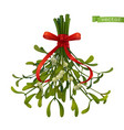 kissing bough christmas decoration mistletoe 3d vector image vector image