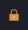 lock pad computer symbol vector image