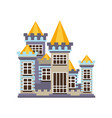 medieval kingdom stone castle vector image vector image