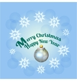 Merry Christmas background with decoration and vector image vector image