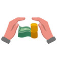 money safety icon vector image vector image