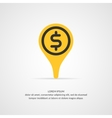Money transfer icon pointer vector image