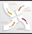 paper arrows infographic 2 vector image