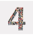 people form number four vector image vector image