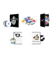 pirate piracy software vector image
