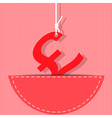 pound money symbol vector image vector image