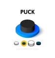 Puck icon in different style vector image