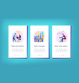 sales growth app interface template vector image vector image