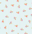 Seamless Pattern with little flowers vector image vector image