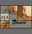 set for dance vector image