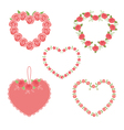 set hearts vector image