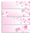 Set of banners with sakura pink template vector image