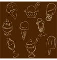 Set of ice creams sketches vector image vector image