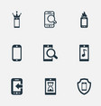 set of simple telephone icons vector image