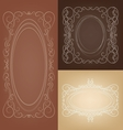 Set of vintage border frame card with swirl lace