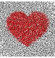 silver red confetti vector image vector image