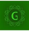 Simple Monogram G vector image vector image