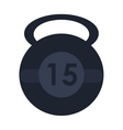 single kettlebell icon vector image